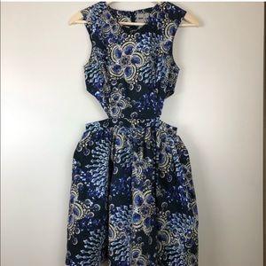 ASOS jewel print cut out dress 6